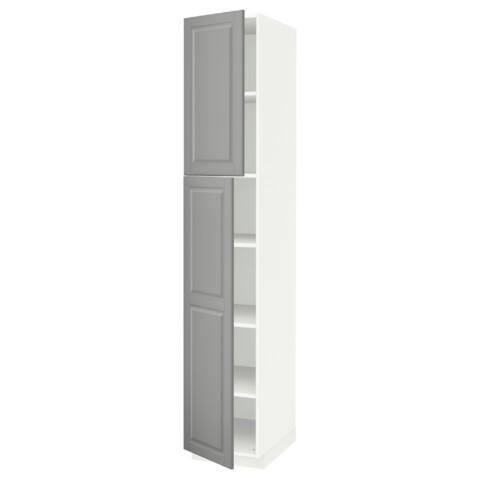Высокий шкаф с полками, 2 дверцы МЕТОД белый артикуль № 791.640.55 в наличии. Онлайн сайт ИКЕА Республика Беларусь. Недорогая доставка и соборка.