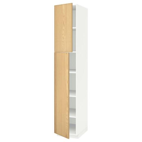 Высокий шкаф с полками, 2 дверцы МЕТОД белый артикуль № 791.640.60 в наличии. Интернет каталог IKEA Республика Беларусь. Недорогая доставка и установка.