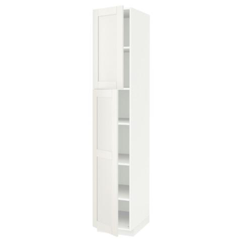 Высокий шкаф с полками, 2 дверцы МЕТОД белый артикуль № 791.640.79 в наличии. Онлайн сайт IKEA Беларусь. Быстрая доставка и монтаж.