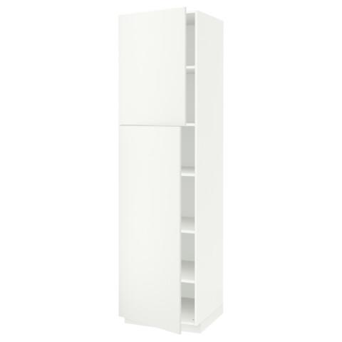Высокий шкаф с полками, 2 дверцы МЕТОД белый артикуль № 891.624.71 в наличии. Онлайн каталог IKEA Минск. Недорогая доставка и монтаж.