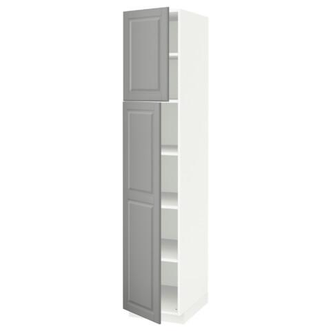 Высокий шкаф с полками, 2 дверцы МЕТОД белый артикуль № 891.639.27 в наличии. Интернет магазин ИКЕА Беларусь. Быстрая доставка и установка.