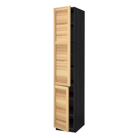 Высокий шкаф с полками, 2 дверцы МЕТОД черный артикуль № 991.346.42 в наличии. Онлайн сайт ИКЕА Минск. Быстрая доставка и соборка.