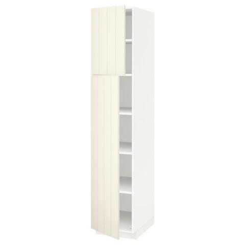 Высокий шкаф с полками, 2 дверцы МЕТОД белый артикуль № 991.639.36 в наличии. Online магазин IKEA Республика Беларусь. Недорогая доставка и установка.
