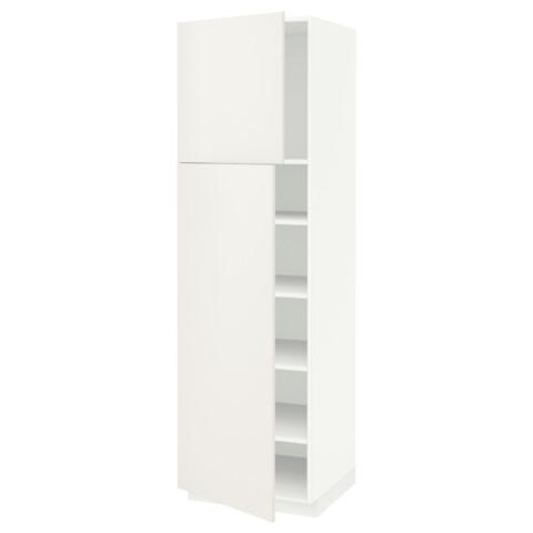 Высокий шкаф с полками, 2 дверцы МЕТОД белый артикуль № 991.640.21 в наличии. Онлайн сайт IKEA Республика Беларусь. Быстрая доставка и монтаж.