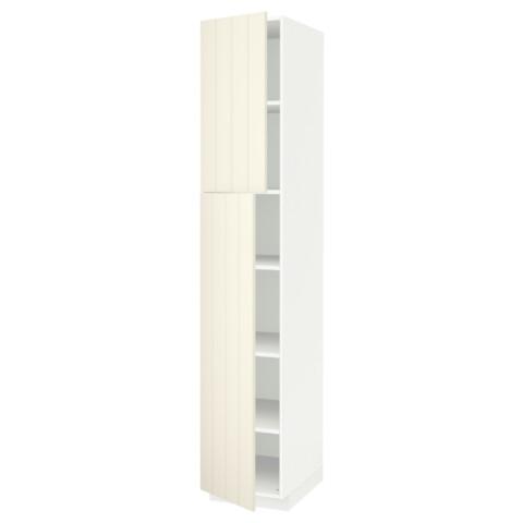 Высокий шкаф с полками, 2 дверцы МЕТОД белый артикуль № 991.640.64 в наличии. Online магазин IKEA Беларусь. Быстрая доставка и монтаж.