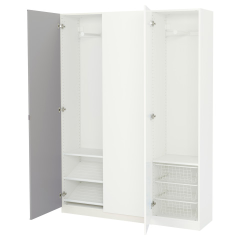 Гардероб ПАКС белый артикуль № 591.611.47 в наличии. Онлайн магазин IKEA Республика Беларусь. Недорогая доставка и установка.