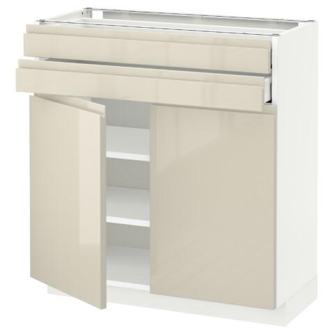 Напольный шкаф, 2 дверцы, 2 ящика МЕТОД / МАКСИМЕРА белый артикуль № 591.680.02 в наличии. Интернет магазин IKEA Минск. Быстрая доставка и соборка.