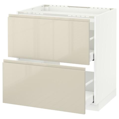 Напольный шкаф, 2 фронтальных панели, 3 ящика МЕТОД / МАКСИМЕРА белый артикуль № 191.680.56 в наличии. Online магазин IKEA РБ. Быстрая доставка и установка.