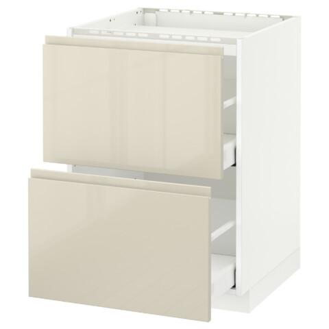 Напольный шкаф, 2 фронтальных панели, 3 ящика МЕТОД / МАКСИМЕРА белый артикуль № 691.680.54 в наличии. Онлайн каталог IKEA РБ. Быстрая доставка и установка.