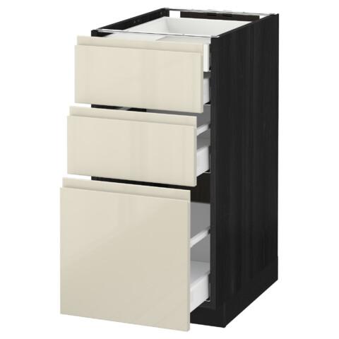 Напольный шкаф 3 фронтальные панели/2нзк/1срд/1 встроенный ящик МЕТОД / МАКСИМЕРА черный артикуль № 491.680.07 в наличии. Интернет сайт IKEA РБ. Недорогая доставка и монтаж.