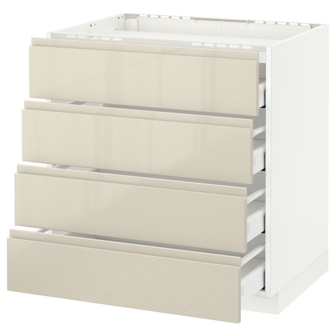 Напольный шкаф, 4 фронтальных панели, 4 ящика МЕТОД / МАКСИМЕРА белый артикуль № 091.680.52 в наличии. Онлайн магазин ИКЕА РБ. Недорогая доставка и монтаж.