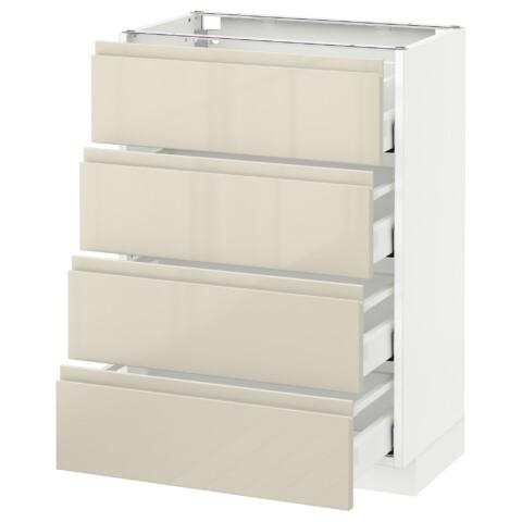 Напольный шкаф 4 фронтальных панели, 4 ящика МЕТОД / МАКСИМЕРА белый артикуль № 191.681.84 в наличии. Online магазин IKEA РБ. Быстрая доставка и соборка.