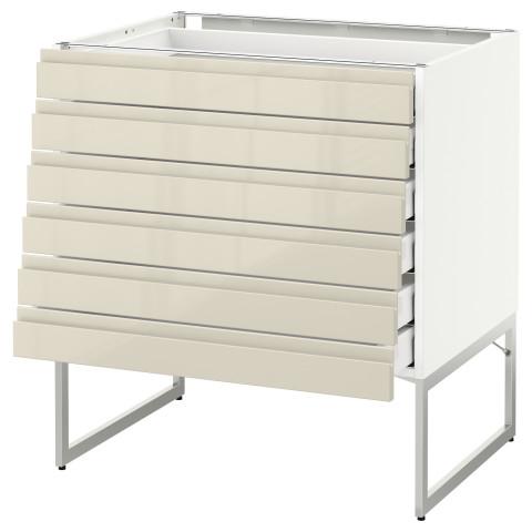Напольный шкаф 6 фронтальных панелей, 6 нижних ящиков МЕТОД / МАКСИМЕРА белый артикуль № 091.680.90 в наличии. Онлайн сайт IKEA Минск. Быстрая доставка и соборка.