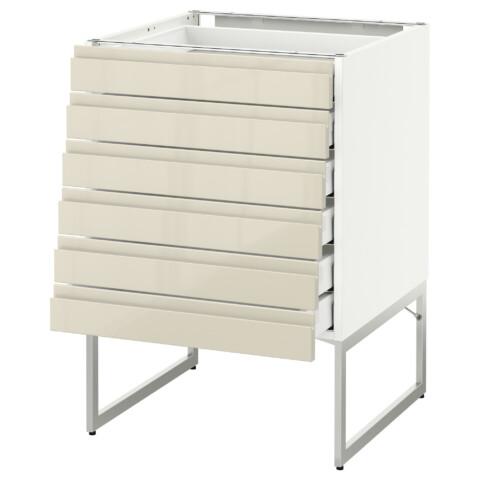 Напольный шкаф 6 фронтальных панелей, 6 нижних ящиков МЕТОД / МАКСИМЕРА белый артикуль № 491.680.88 в наличии. Интернет сайт IKEA РБ. Быстрая доставка и соборка.