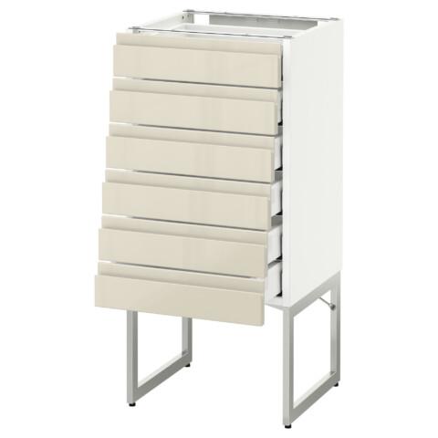 Напольный шкаф 6 фронтальных панелей, 6 нижних ящиков МЕТОД / МАКСИМЕРА белый артикуль № 991.681.23 в наличии. Онлайн магазин IKEA РБ. Недорогая доставка и установка.