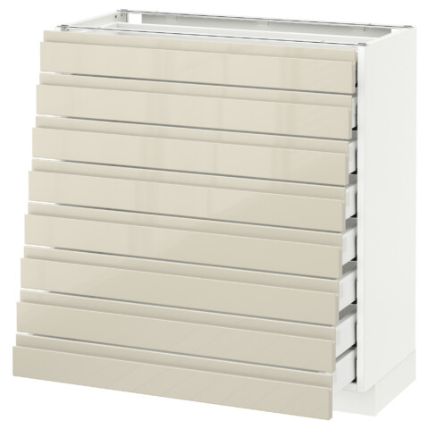 Напольный шкаф 8 фронтальных, 8 низких ящиков МЕТОД / МАКСИМЕРА белый артикуль № 191.680.37 в наличии. Онлайн каталог IKEA РБ. Быстрая доставка и монтаж.