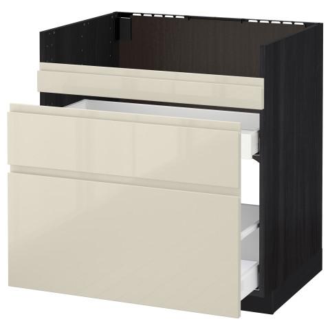 Напольный шкаф под мойку ДУМШЁ, 3 фасада, 2 ящика МЕТОД / МАКСИМЕРА черный артикуль № 291.682.49 в наличии. Online магазин IKEA Минск. Недорогая доставка и монтаж.