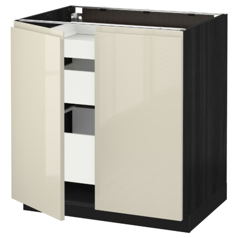 Напольный шкаф с 2 дверцами, 3 ящиками МЕТОД / МАКСИМЕРА черный артикуль № 191.682.97 в наличии. Интернет магазин IKEA Минск. Быстрая доставка и соборка.