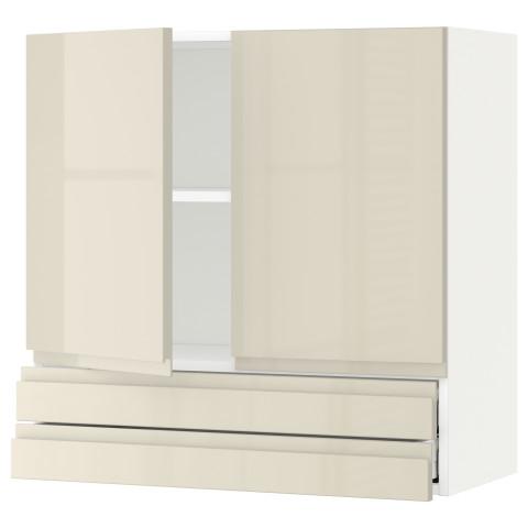 Навесной шкаф, 2 дверцы, 2 ящика МЕТОД / МАКСИМЕРА белый артикуль № 991.681.56 в наличии. Онлайн сайт IKEA РБ. Недорогая доставка и монтаж.