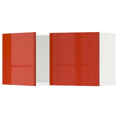 Навесной шкаф с 2 дверями МЕТОД оранжевый артикуль № 091.587.60 в наличии. Online сайт ИКЕА РБ. Недорогая доставка и монтаж.
