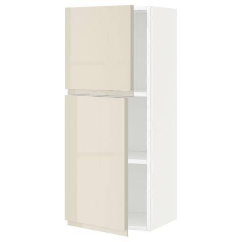 Навесной шкаф с полками, 2 дверцы МЕТОД белый артикуль № 091.432.26 в наличии. Интернет магазин IKEA РБ. Недорогая доставка и монтаж.