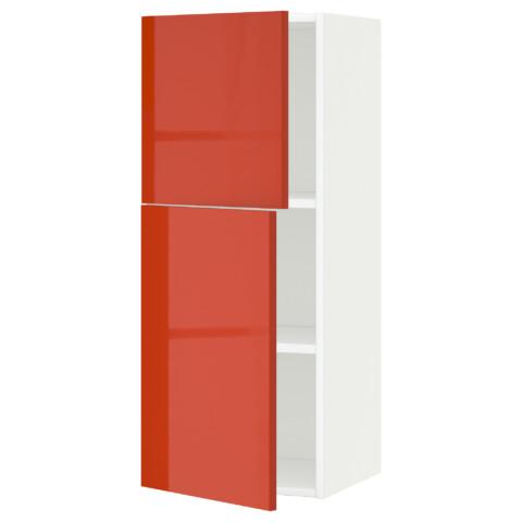Навесной шкаф с полками, 2 дверцы МЕТОД белый артикуль № 391.587.68 в наличии. Онлайн каталог ИКЕА РБ. Недорогая доставка и соборка.