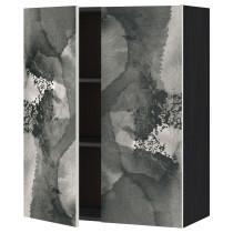 Навесной шкаф с полками, 2 дверцы МЕТОД черный артикуль № 391.589.14 в наличии. Онлайн каталог ИКЕА РБ. Быстрая доставка и монтаж.