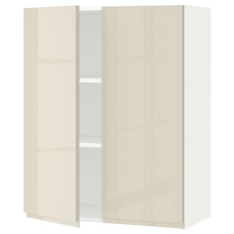 Навесной шкаф с полками, 2 дверцы МЕТОД белый артикуль № 591.432.24 в наличии. Онлайн сайт IKEA Беларусь. Недорогая доставка и соборка.