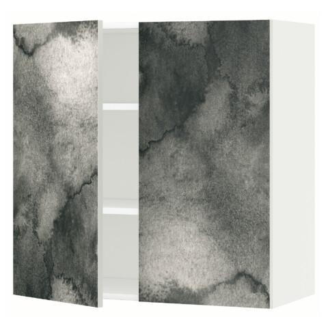 Навесной шкаф с полками, 2 дверцы МЕТОД белый артикуль № 591.589.13 в наличии. Интернет сайт ИКЕА Республика Беларусь. Недорогая доставка и установка.