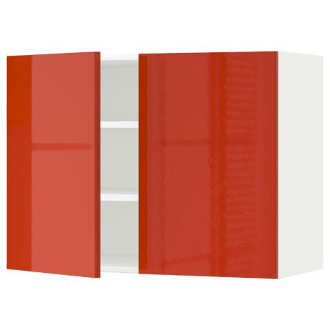 Навесной шкаф с полками, 2 дверцы МЕТОД белый артикуль № 691.587.62 в наличии. Интернет каталог IKEA Республика Беларусь. Недорогая доставка и соборка.