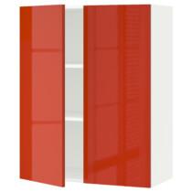 Навесной шкаф с полками, 2 дверцы МЕТОД оранжевый артикуль № 791.587.66 в наличии. Онлайн каталог IKEA РБ. Недорогая доставка и установка.