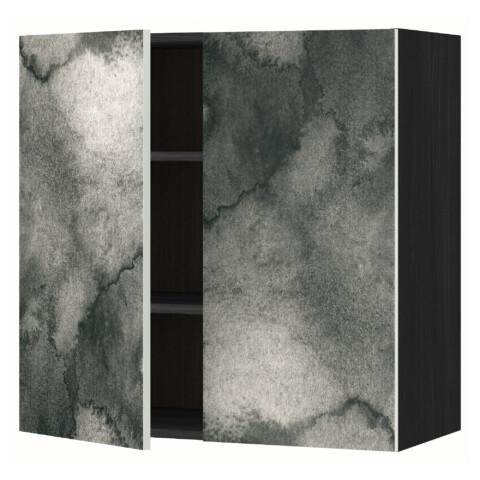 Навесной шкаф с полками, 2 дверцы МЕТОД черный артикуль № 791.589.12 в наличии. Интернет каталог ИКЕА Беларусь. Быстрая доставка и монтаж.