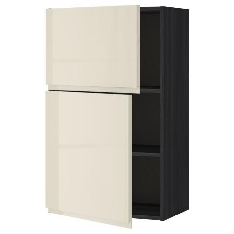Навесной шкаф с полками, 2 дверцы МЕТОД черный артикуль № 891.432.27 в наличии. Online каталог IKEA Беларусь. Недорогая доставка и установка.