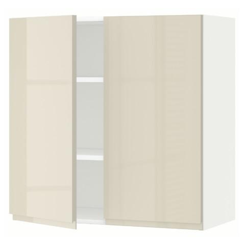 Навесной шкаф с полками, 2 дверцы МЕТОД белый артикуль № 991.432.22 в наличии. Онлайн сайт IKEA Беларусь. Быстрая доставка и монтаж.