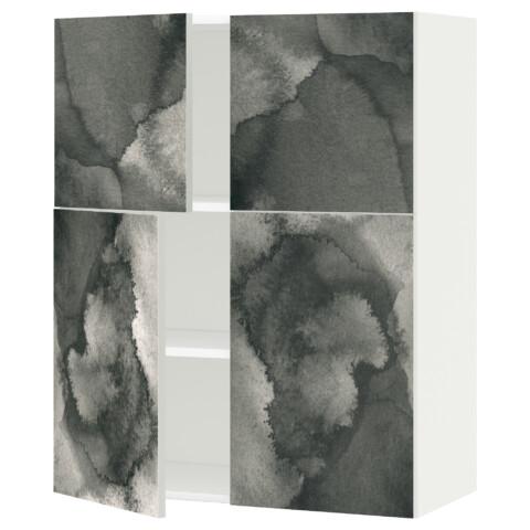Навесной шкаф с полками, 4 дверцы МЕТОД белый артикуль № 291.589.19 в наличии. Онлайн каталог ИКЕА Беларусь. Недорогая доставка и установка.