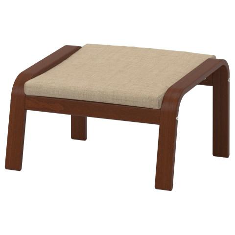 Табурет для ног ПОЭНГ бежевый артикуль № 891.978.33 в наличии. Онлайн магазин IKEA Минск. Быстрая доставка и монтаж.