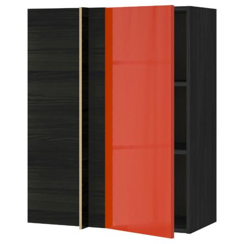 Угловой навесной шкаф с полками МЕТОД оранжевый артикуль № 191.587.93 в наличии. Интернет магазин IKEA Беларусь. Недорогая доставка и монтаж.