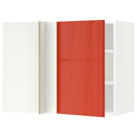 Угловой навесной шкаф с полками МЕТОД оранжевый артикуль № 791.587.90 в наличии. Интернет магазин IKEA Республика Беларусь. Недорогая доставка и установка.