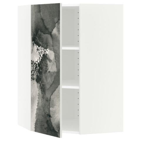 Угловой навесной шкаф с полками МЕТОД белый артикуль № 891.589.35 в наличии. Интернет магазин IKEA Республика Беларусь. Недорогая доставка и монтаж.