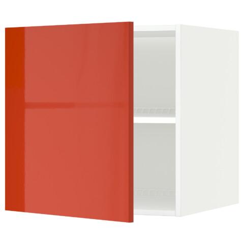 Верхний шкаф на холодильник, морозильник МЕТОД оранжевый артикуль № 291.588.15 в наличии. Интернет магазин IKEA РБ. Недорогая доставка и установка.