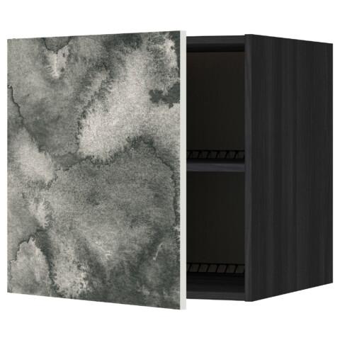 Верхний шкаф на холодильник, морозильник МЕТОД черный артикуль № 991.589.54 в наличии. Online сайт IKEA Республика Беларусь. Быстрая доставка и установка.
