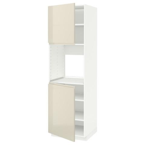 Высокий шкаф для духовки, 2 дверцы, полки МЕТОД белый артикуль № 491.435.78 в наличии. Online магазин ИКЕА РБ. Быстрая доставка и установка.