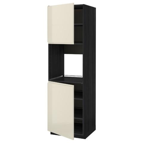 Высокий шкаф для духовки, 2 дверцы, полки МЕТОД черный артикуль № 691.435.77 в наличии. Online сайт IKEA Беларусь. Быстрая доставка и установка.