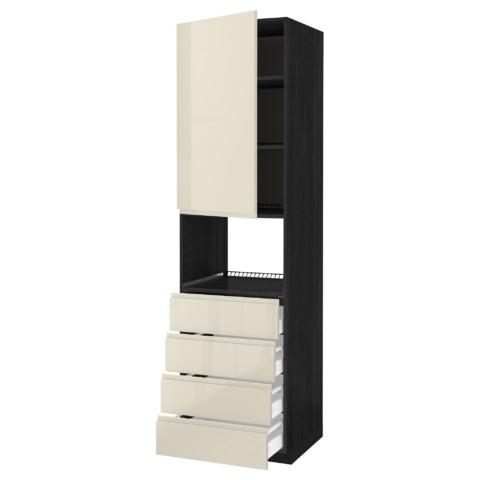 Высокий шкаф для духовки, дверца, 4 ящика МЕТОД / МАКСИМЕРА черный артикуль № 091.683.30 в наличии. Online магазин IKEA Беларусь. Недорогая доставка и монтаж.