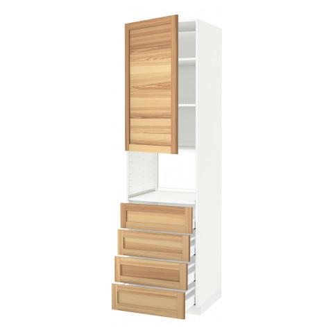 Высокий шкаф для духовки, дверца, 4 ящика МЕТОД / МАКСИМЕРА белый артикуль № 791.535.80 в наличии. Интернет сайт IKEA РБ. Быстрая доставка и монтаж.