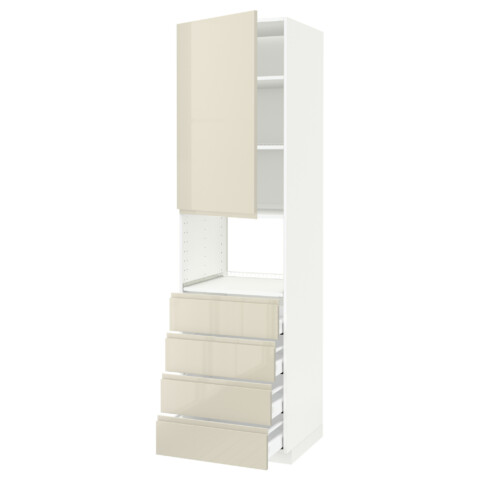 Высокий шкаф для духовки, дверца, 4 ящика МЕТОД / МАКСИМЕРА белый артикуль № 891.683.31 в наличии. Online магазин IKEA Беларусь. Недорогая доставка и соборка.