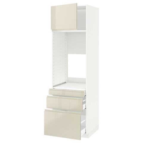 Высокий шкаф для двойной духовки, 3 ящика, дверца МЕТОД / МАКСИМЕРА белый артикуль № 491.683.66 в наличии. Онлайн сайт IKEA РБ. Быстрая доставка и соборка.