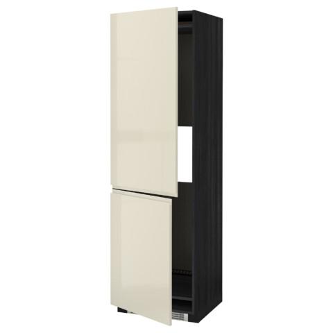 Высокий шкаф для холодильника или морозильник МЕТОД черный артикуль № 191.435.65 в наличии. Online магазин ИКЕА РБ. Быстрая доставка и соборка.