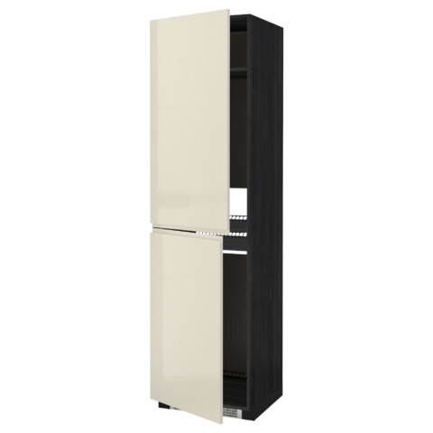 Высокий шкаф для холодильника или морозильника, МЕТОД черный артикуль № 391.435.69 в наличии. Online сайт IKEA РБ. Недорогая доставка и монтаж.