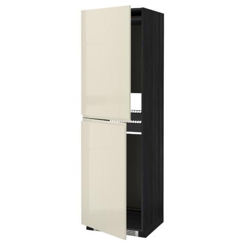 Высокий шкаф для холодильника или морозильника, МЕТОД черный артикуль № 791.435.67 в наличии. Интернет каталог IKEA РБ. Быстрая доставка и монтаж.